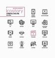 cinema online - line design style icons set vector image