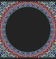 circular floral frame ornament - background design vector image vector image