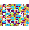 city seamless pattern place map texture town vector image
