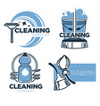 cleaning tools and clean service isolated icons vector image vector image