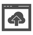 cloud computing download solid icon data server vector image vector image