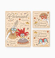 collection decorative card party invitation vector image