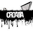 croatia with a soccer ball and gate vector image vector image