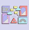 cute colorful retro vaporwave desktop with message vector image
