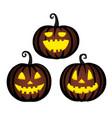 cute halloween pumpkins vector image vector image