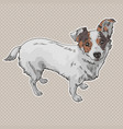 dog black and white vector image vector image