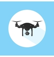 Drone Logo Design Icon Silhouette Technology vector image vector image