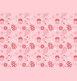 easter eggs seamless pattern on pink background vector image vector image