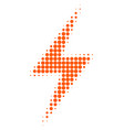 electric strike halftone dotted icon vector image