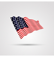 flag us isolated on white vector image vector image