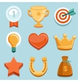 flat gamification icons Achievement badges vector image vector image
