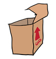 freehand drawn cartoon empty box vector image