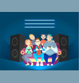 friends play computer games funny vector image