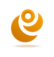 geometric orange abstract isolated element vector image