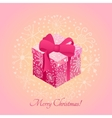 Gift box with ribbon design graphic template vector image vector image