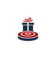 gift target logo icon design vector image vector image