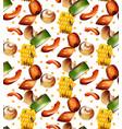 grilled vegetables pattern background vector image