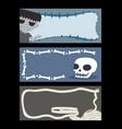 halloween dead character banner set vector image