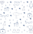 Hand draw christmas set object in doodle vector image vector image