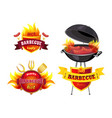 hot bbq barbecue tasty set vector image vector image