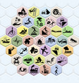 insurance icon set of accident robbery natural vector image