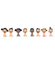 interracial group of babies and toddlers vector image