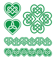 Irish Scottish Celtic green heart pattern vector image vector image
