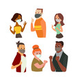 man and women wearing face mask gesturing ok sign vector image vector image