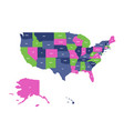 map of usa united states of america vector image