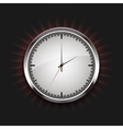modern watch icon with rays on black vector image vector image