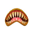 monster jaws evil mouth with fangs teeth vector image vector image
