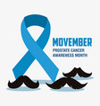 movember prostate cancer day vector image