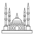 Muslim mosque icon outline style vector image vector image