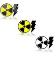 Nuclear energy vector image vector image