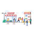 offline to online commerce flat vector image vector image