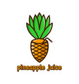 pineapple juice logo design template vector image