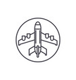 plane landing line icon concept plane landing vector image vector image