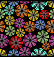 rainbow uneven distributed abstract flower shapes vector image