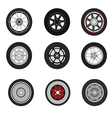 Retro cars classic and sport cars wheel set