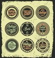 retro vintage label badges with grunge background vector image vector image
