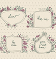romantic set floral frames in a pastel colors vector image vector image