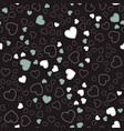 seamless pattern with heartsromantic pattern vector image vector image