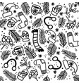 seamless pattern with mittens socks hats vector image vector image
