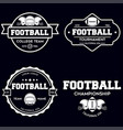 set american football related badges logos vector image vector image