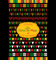 set of 14 festive bunting brushes for party promo vector image