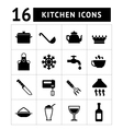 Set of cooking and kitchen icons vector image