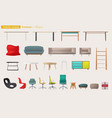 set of furniture for home design vector image vector image