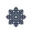 snowflake icon black silhouette snow flake sign vector image