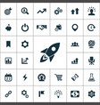 startup icons universal set for web and ui vector image