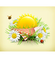 Summer time for a picnic nature outdoor recreation vector image vector image
